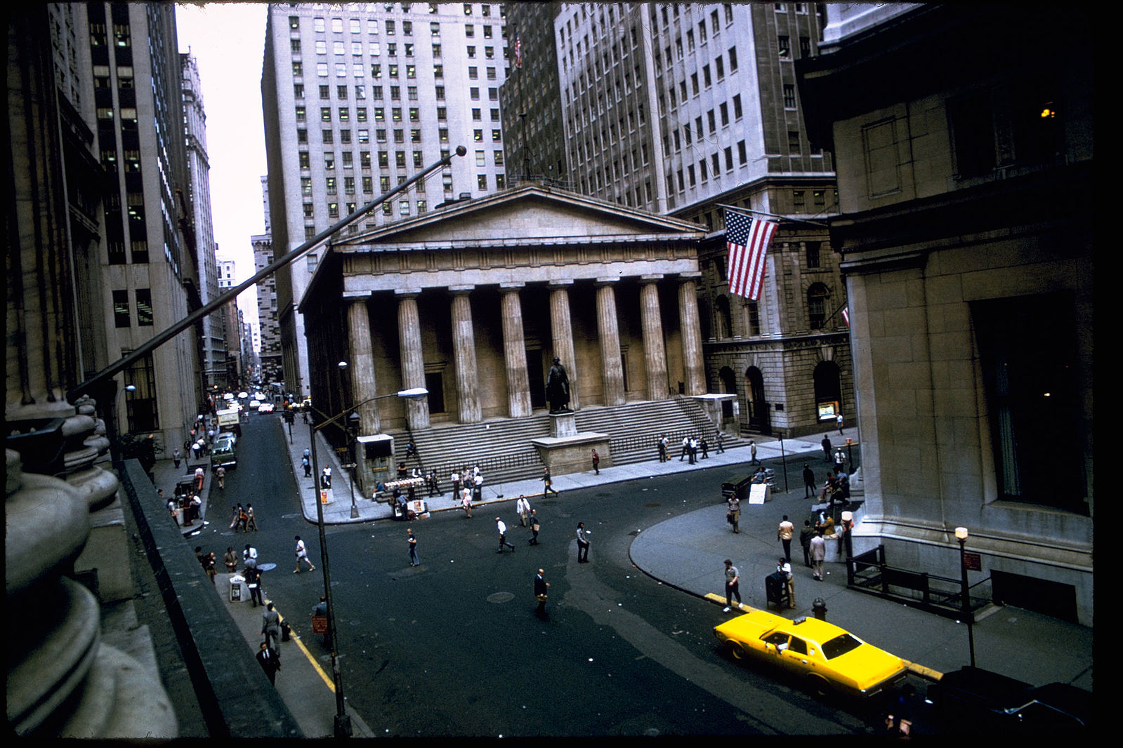Federal Hall from Broad Street