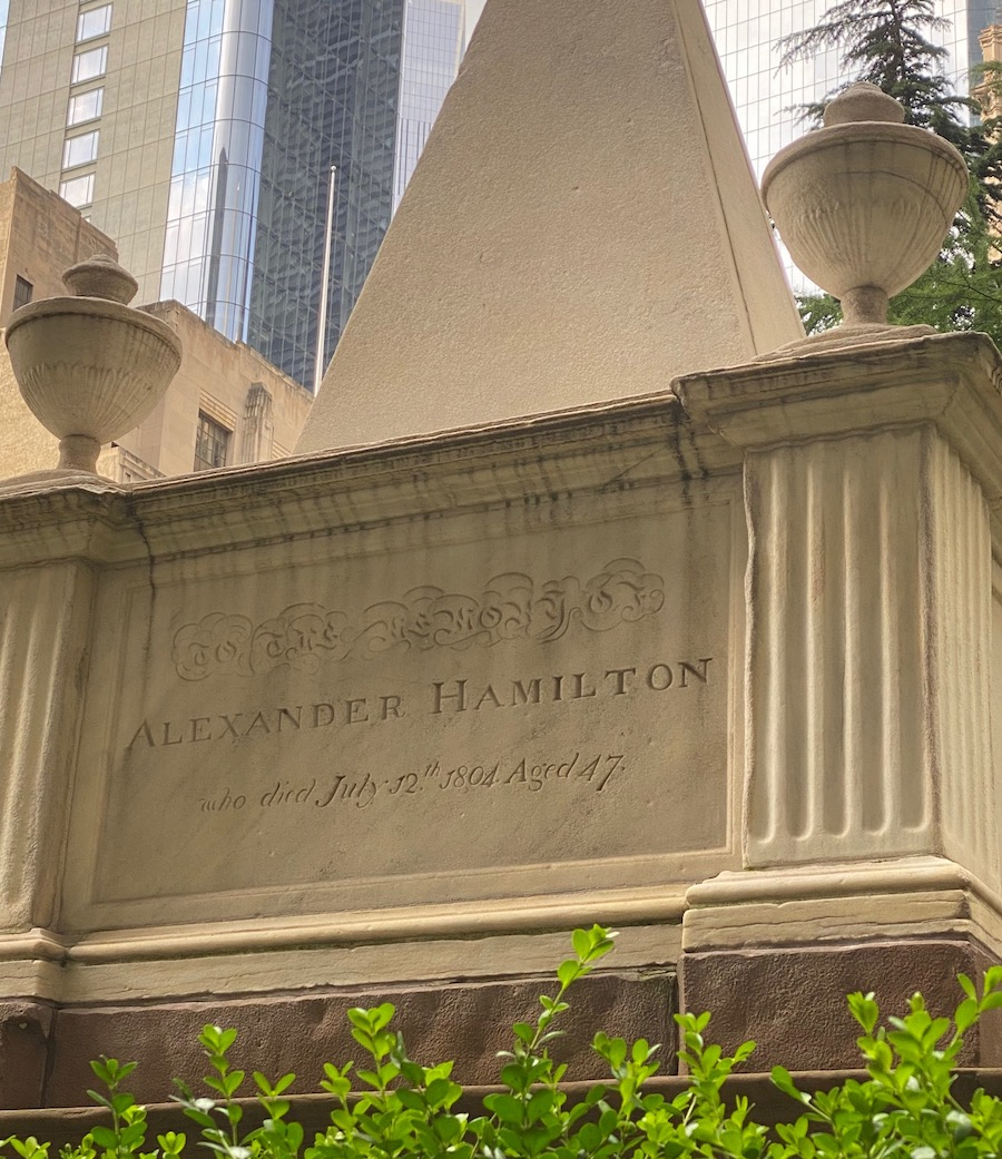 Hamilton's Grave at Trinity Church in New York City