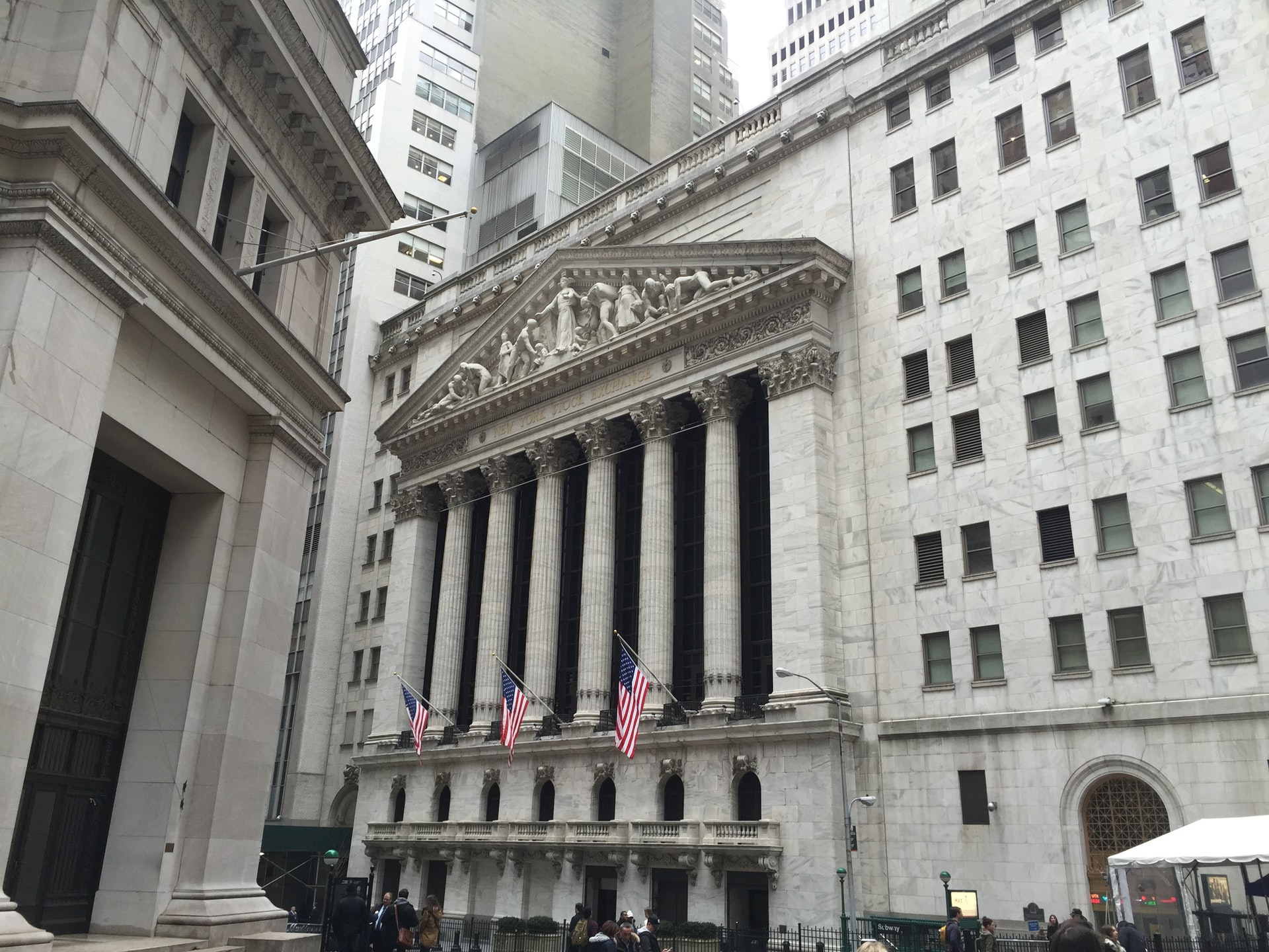 New York Stock Exchange building in NYC