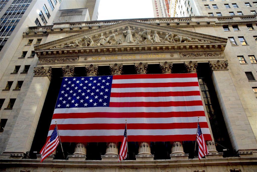 New York Stock Exchange American Flag