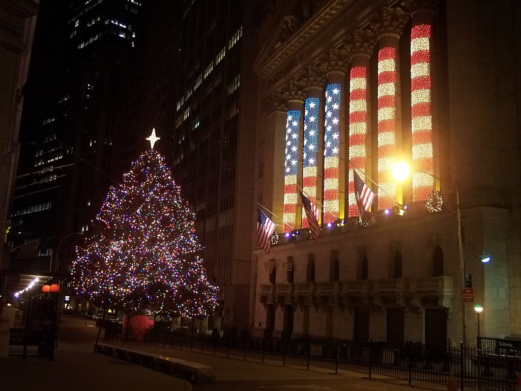 NYSE Christmas Tree and Lights