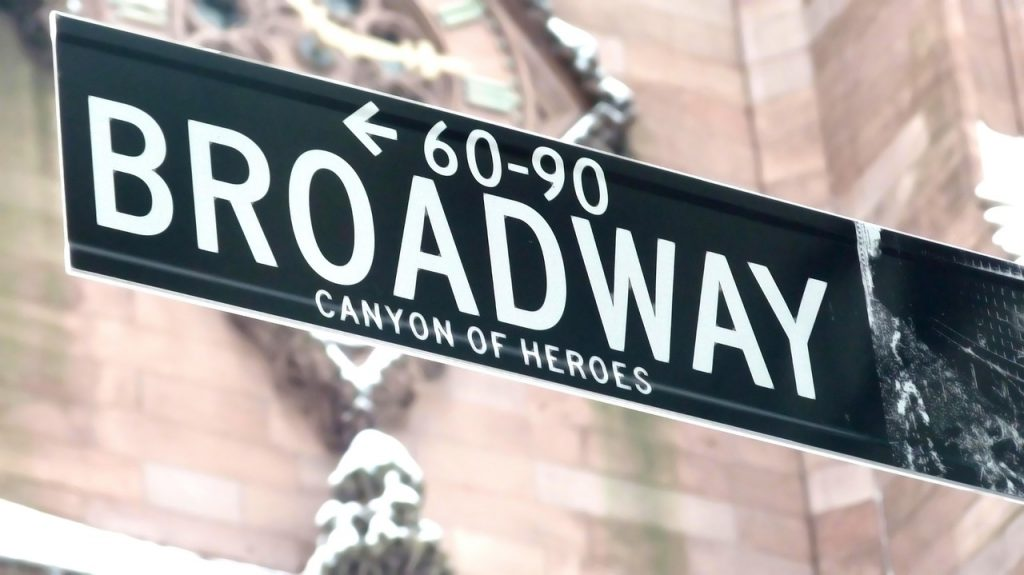 Canyon of Heroes Street Sign