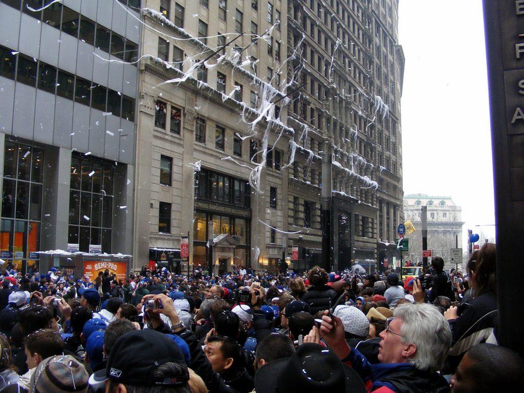 Ticker Tape parade, Lower Manhattan