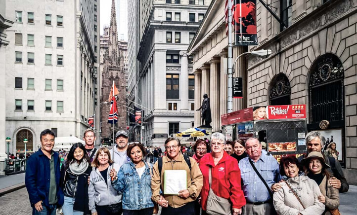 Wall Street Experience tour group