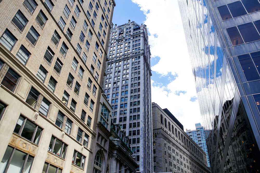 Skyscrapers of the Financial District in Lower Manhattan
